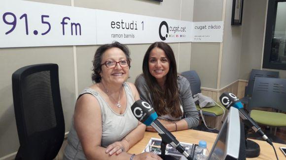 D'esquerra a dreta, Carme Reverte i Judith Martínez