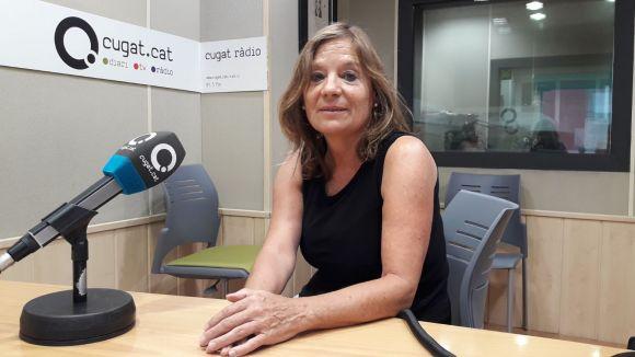 La primera directora de l'Escola d'Adults, Andrea Sánchez