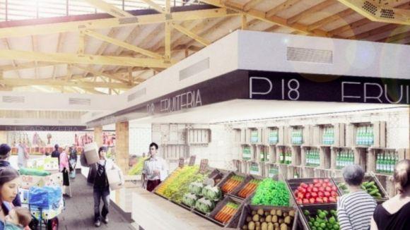Imatge del futur mercat / Foto: Twitter Ajuntament