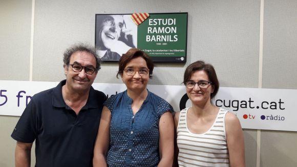 D'esquerra a dreta: Jordi Lobo, Rosa Llopis i Lourdes Abril