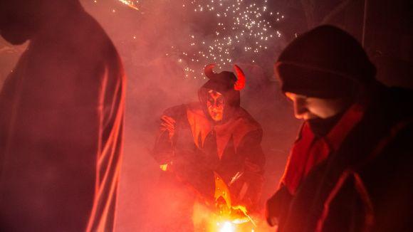 Sant Cugat vibra avui amb els Gegants, els Diables i el centenari del tren