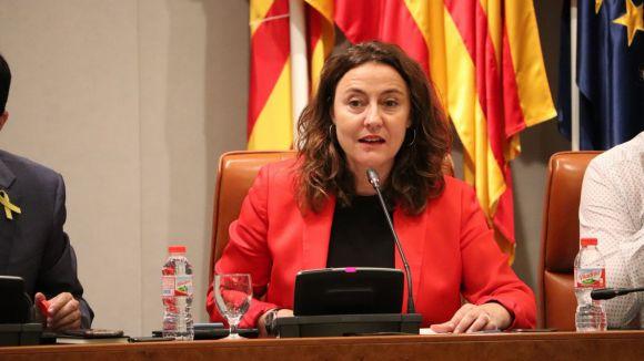 Mercè Conesa durant el ple extraordinari / Foto: Diputació de Barcelona