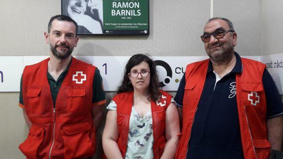 D'esquerra a dreta: David Bea, Adriana Sitges i Manolo Bejarano