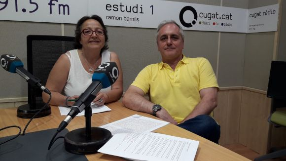 D'esquerra a dreta: Carme Reverte i Lluís Cabal