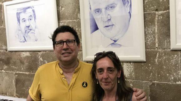 Jordi Magrià amb els seus treballs / Foto: Jordi Magrià