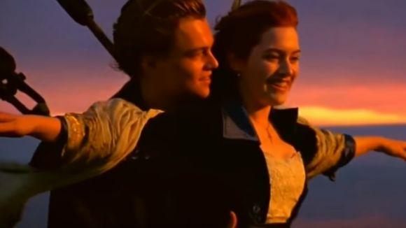 Leonardo Di Caprio i Kate Winslet, al film 'Titànic'