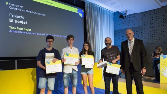 Alumnes del Thau guanyen el premi Impulsa amb un curt sobre el menjar desaprofitat