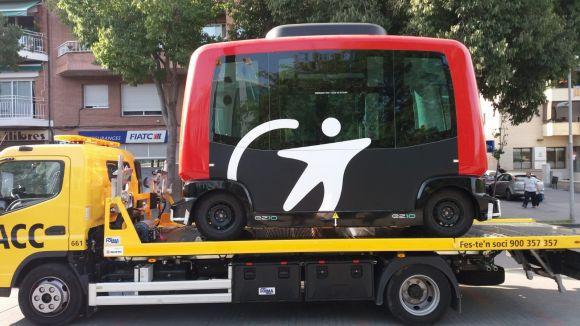 L'Èrica, el primer bus autònom de Catalunya, fa parada a Sant Cugat