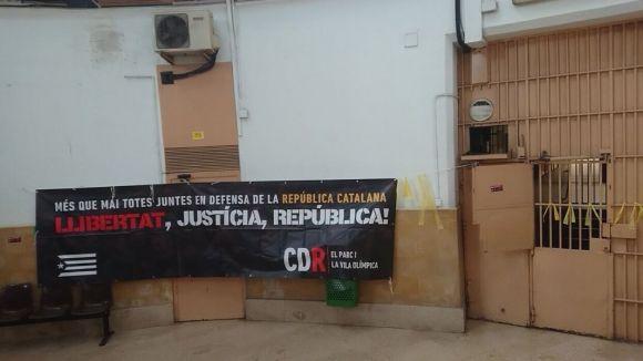 La reivindicació dels CDR arriba a la Model / Foto: Twitter CDR Sant Cugat