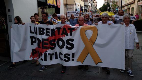 Més de 250 persones reivindiquen la llibertat dels 'Jordis' nou mesos després de l'empresonament