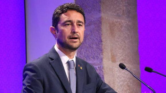 El conseller de Territori i Sostenibilitat, Damià Calvet, en el moment de l'anunci / Foto: ACN