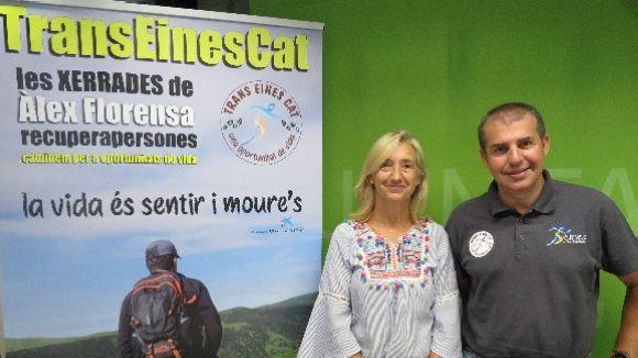 La tinenta d'alcalde de Progrés Social, Susanna Pellicer, i el director del centre Eines, Àlex Florensa