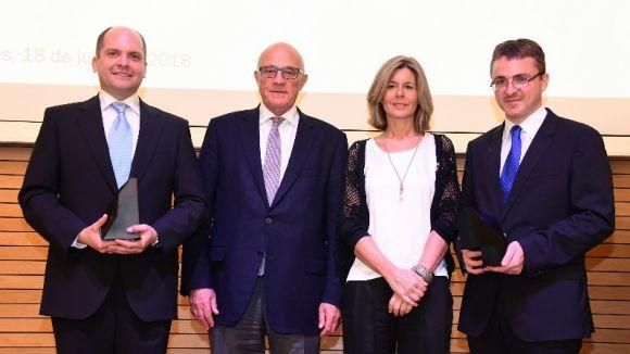 Daniel López Serrano i Rubén Martín recullen a Sant Cugat els premis Fundació Banc Sabadell 2018