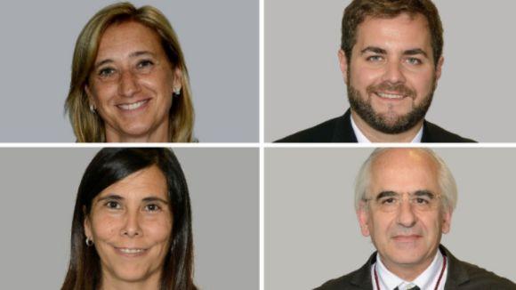 Els quatre tinents d'alcalde exerciran el càrrec de Fortuny durant l'agost / Fotos: Ajuntament