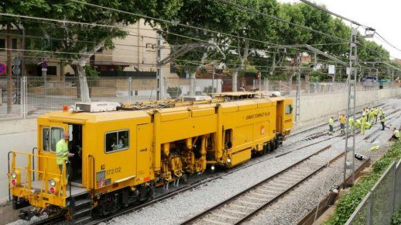 FGC redueix el nivell mig diari de soroll a l'entorn de l'estació de Sant Cugat