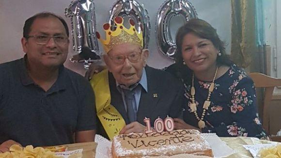 Vicente Carrasco compleix 100 anys