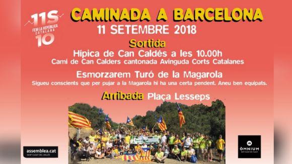 L'ANC organitza una caminada popular de Sant Cugat a Barcelona l'Onze de setembre