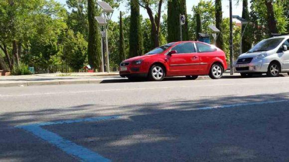 Un aparcament de zona blava a Sant Cugat / Foto: Web de l'Ajuntament