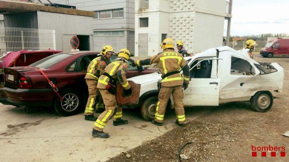Els Bombers de Rubí-Sant Cugat, representació catalana al concurs estatal de rescat en accidents de trànsit