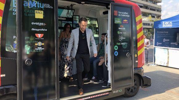 Sant Cugat estrena l'Èrica, el primer bus autònom de Catalunya
