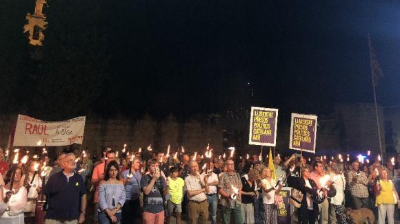 La Marxa de Torxes de l'any passat va aplegar a Sant Cugat centenars de persones / Foto: Cugat Mèdia