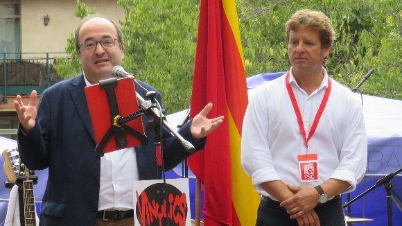 Miquel Iceta (PSC) demana a Sant Cugat 'respecte pels qui pensen diferent'