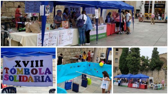 La parada de l'AFA a la plaça d'Octavià, aquest dissabte