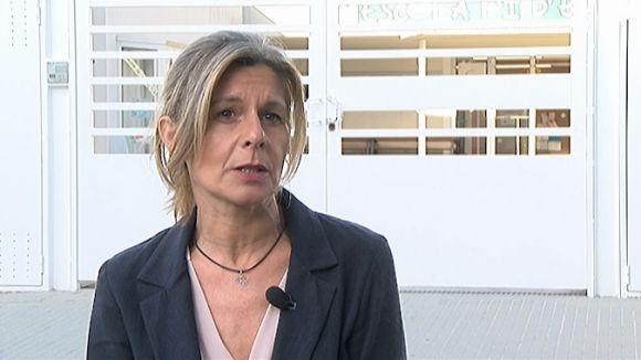 Carmela Fortuny durant l'entrevista