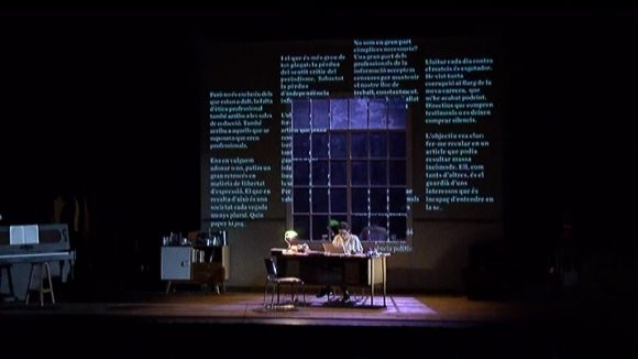 L'ètica periodística es despulla al Teatre-Auditori amb 'Un tret al cap'
