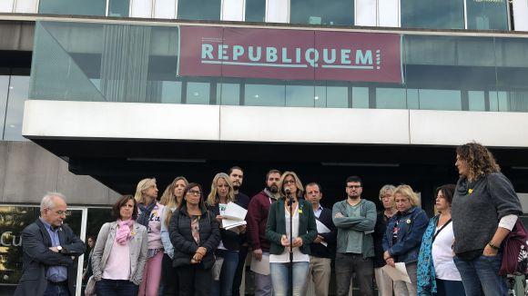 Acte per escenificar el compromís local amb el llegat de l'1-O i la construcció de la República