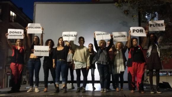 El 'no' a la violència masclista sacseja l'inici de la Festa Major del Monestir-Sant Francesc