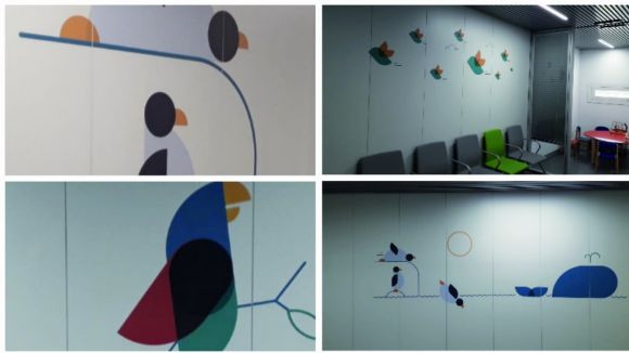 L'HUGC renova la decoració de les sales d'espera de pediatria amb imatges d'animals