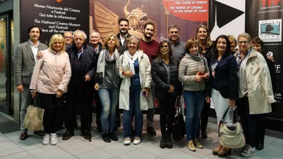 La comitiva ha arribat aquest dissabte a l'aeroport de Torí / Foto: Ajuntament