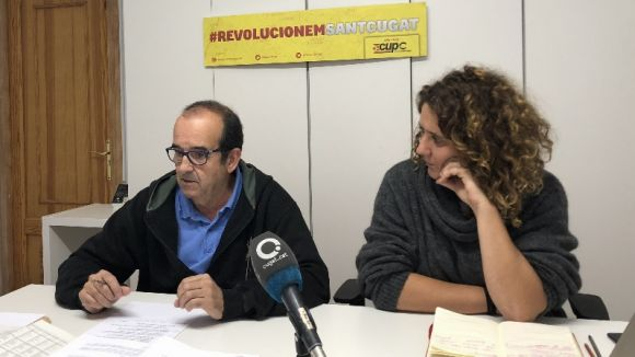 Xavier Humet i Núria Gibert en roda de premsa