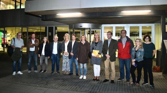 Sant Cugat fa un minut de silenci en record de les víctimes pels aigüats de Mallorca