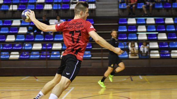 L'Handbol Sant Cugat vol sumar una nova victòria aquest dissabte davant el Palautordera