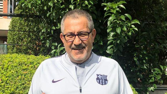 El nou delegat del Benjamí C del Barça, Martín Fernández