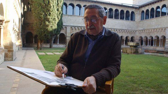 Pep Blanes realitzant un dels seus dibuixos / Foto: Lluís Llebot