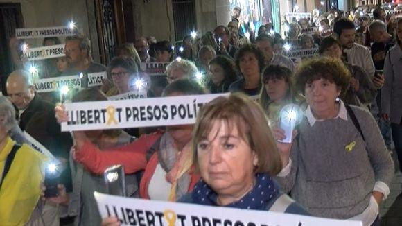 300 persones no obliden l'any a presó dels 'Jordis'