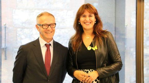 El ministre de Cultura, José Guirao, i la consellera de Cultura, Laura Borràs / Foto: ACN