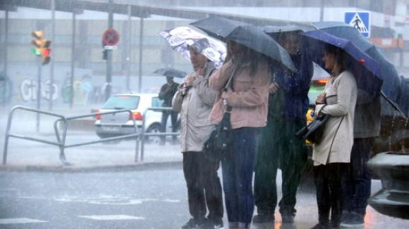 Risc de pluges en les properes hores a Sant Cugat