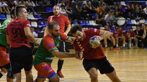 Imatge del partit del Sant Cugat contra el Sant Quirze / Foto: Handbol Sant Cugat