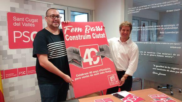 El PSC celebra 40 anys amb una campanya sobre la feina feta a Sant Cugat