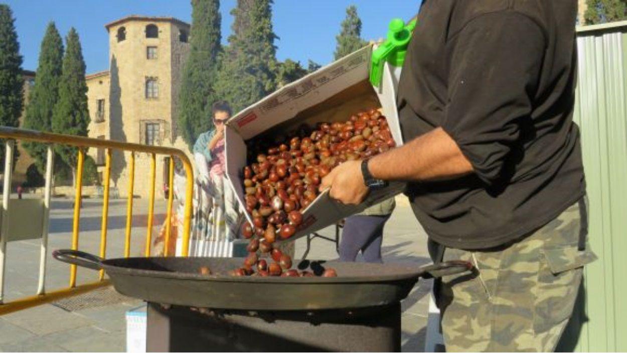 Sant Cugat tindrà també aquest any parades de castanyes / Foto: Cugat Mèdia