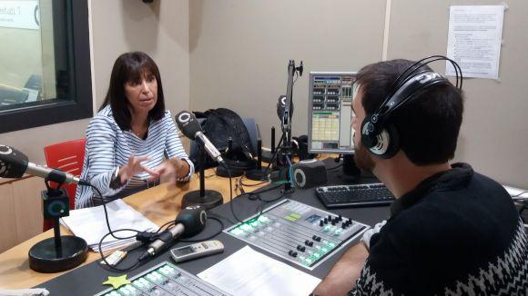 Montse Gavagnach, durant l'entrevista / Foto: Mútua Terrassa