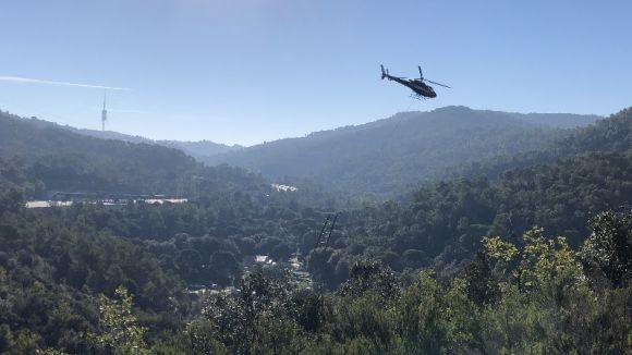 Imatge dels treballs de l'helicòpter