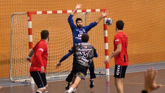 Imatge del partit entre l'Handbol Sant Cugat i la Roca / Foto: Handbol Sant Cugat