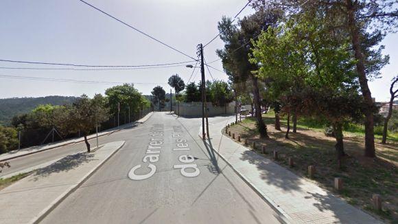 La cruïlla del camí del Molí amb el carrer de Miralluny canviarà d'aspecte / Foto: Google Street View