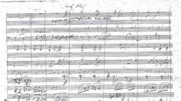Una pàgina manuscrita de la 9a simfonia / Foto: Wikipedia