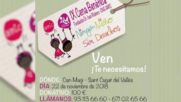 La fundació Ivan Mañero i l'ONG AMIC organitzen el 9è sopar solidari 'Cap nen sense drets'
